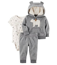 Carter's Baby Boys' 3-24 Months 3 Piece Polar Bear Print Little Jacket Set