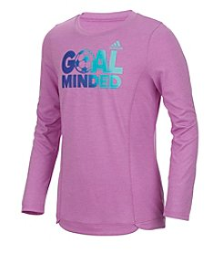 adidas® Girls 7-16 Goal Minded Long Sleeve Top