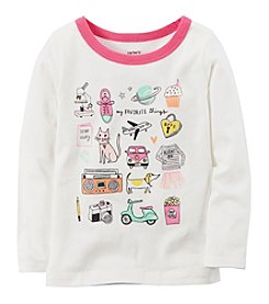 Carter's® Girls 2T-4T Favorite Things Long Sleeve Top