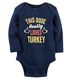 Carter's Baby Boys' This Dude Loves Turkey Collectible Bodysuit