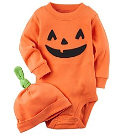 Carter's® 2 Piece Pumpkin Hat And Collectible Bodysuit