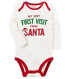Carter's Baby First Santa Visit Collectible Bodysuit