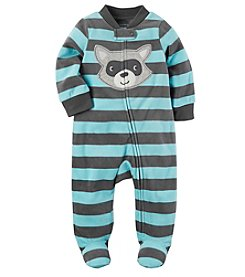 Carter's® Baby Boys' Fleece Zip Up Sleep And Play Racoon Footies