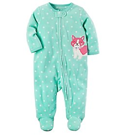 Carter's® Baby Girls' Fleece Zip Up Sleep And Play Dog Footies