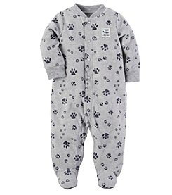Carter's® Baby Boys' Fleece Zip Up Sleep And Play Paw Print Footies
