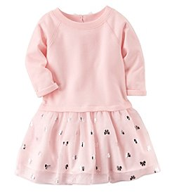 Carter's® Baby Girls' 12-24 Month 3 Quarter Sleeve Bow Dress
