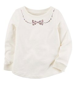 Carter's® Girls' 2T-4T Long Sleeve Bow Top