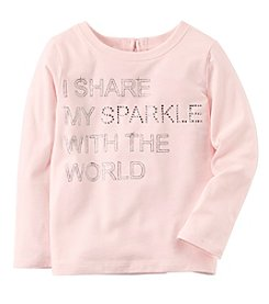 Carter's® Girls' 2T-4T Long Sleeve Sparkle Top