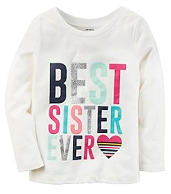 Carter's Girls' 2T-4T Long Sleeve Best Sister Ever Tee