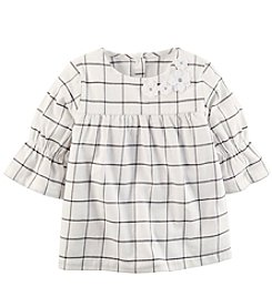 Carter's Girls' 2T-4T Short Sleeve Ruffle Top