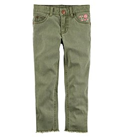 Carter's Girls' 2T-4T Embroidered Twill Pants