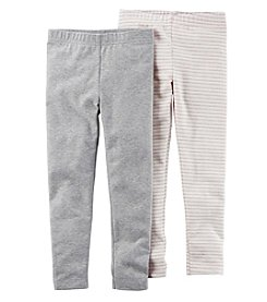 Carter's Girls' 2T-4T 2-Pack Glitter Leggings