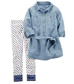 Carter's® Girls' 4-8 2 Piece Chambray Tunic And Leggings Set
