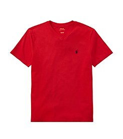 Polo Ralph Lauren® Boys' 8-20 V-Neck Short Sleeve Jersey Tee