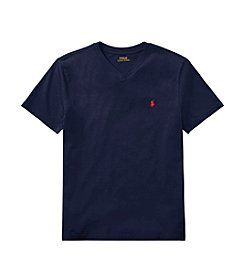 Polo Ralph Lauren® Boys' 8-18 V-Neck Short Sleeve Jersey Tee