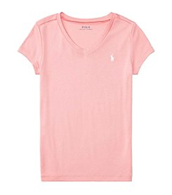 Polo Ralph Lauren® Girls' 7-16 Short Sleeve Vneck Tee