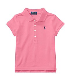 Polo Ralph Lauren® Girls' 2T-16 Short Sleeve Mesh Shirt