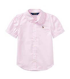 Polo Ralph Lauren® Girls' 2T-16 Short Sleeve Oxford Shirt