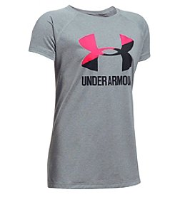 Under Armour® Girls' 4-6X Short Sleeve Solid Big Logo Tee