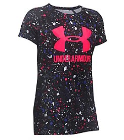 Under Armour® Girls' 4-6X Short Sleeve Big Logo Novelty Tee
