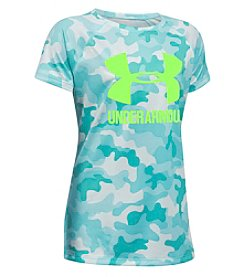 Under Armour® Girls 4-6X Short Sleeve Big Logo Novelty Tee
