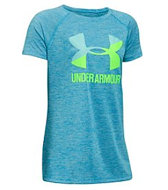 Under Armour® Girl's 4-6X Short Sleeve Big Logo Novelty Tee