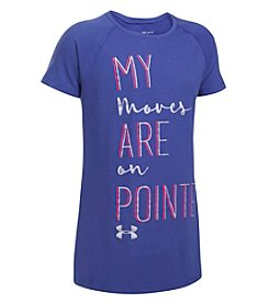 Under Armour® Girls' 4-6X Short Sleeve Moves On Point Tee