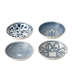 ED Ellen DeGeneres Crafted by Royal Doulton® Four Piece Blue Love Bowl Set