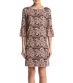 Jessica Howard® Lace Bell Sleeve Dress