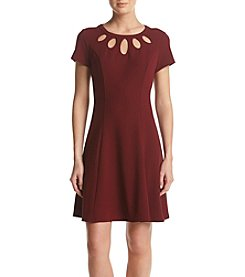 AGB® Fit-And-Flare Cutout Dress