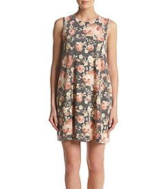 AGB® Floral Print French Terry Dress
