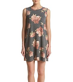 AGB® Floral French Terry Shift Dress