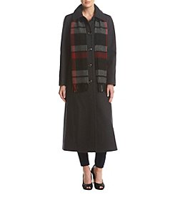 London Fog® Wool Coat And Scarf