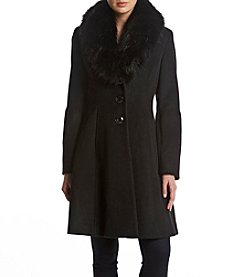 Ivanka Trump Faux Fur Trimmed Walker Coat