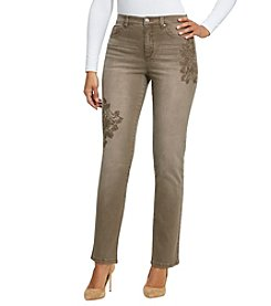 Gloria Vanderbilt® Petites' Amanda Embroidered Rose Jeans