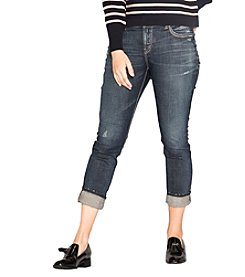 Silver Jeans Co. Plus Size Suki Cuffed Ankle Slim Jeans
