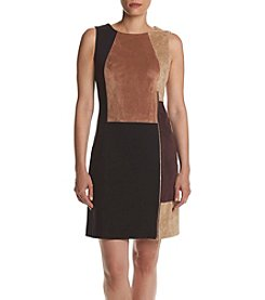 Ivanka Trump® Blocked Faux Suede Dress