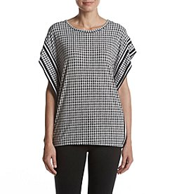 MICHAEL Michael Kors® Houndstooth Border Top
