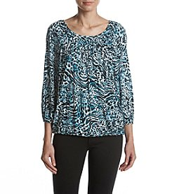 MICHAEL Michael Kors® Big Cat Peasant Top