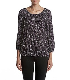 MICHAEL Michael Kors® Leaf Print Peasant Top