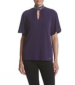 MICHAEL Michael Kors® Iris Grommet Neck Shirred Top
