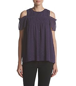 MICHAEL Michael Kors® Smocked Cold Shoulder Top