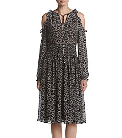 MICHAEL Michael Kors® Leopard Printed Cold Shoulder Dress