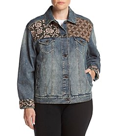 Hippie Laundry Plus Size Embroidered Denim Jacket