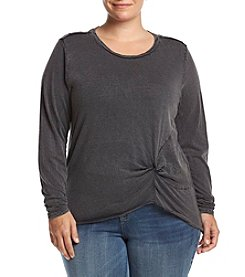 Hippie Laundry Plus Size Knot Front Tee