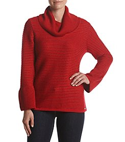 Calvin Klein Ribbed Cowl Neck Sweater