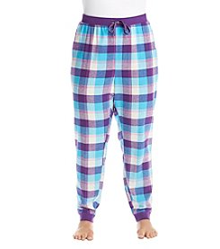 Relativity® Plus Size Flannel Sleep Joggers