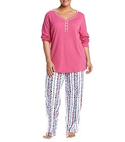 Intimate Essentials® Plus Size Print Pajama Set
