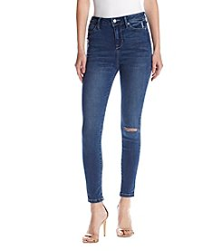 Celebrity Pink Juniper Slit Knee High Rise Skinny Jeans