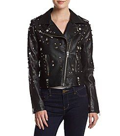 BLANKNYC Allover Studded Faux Leather Jacket